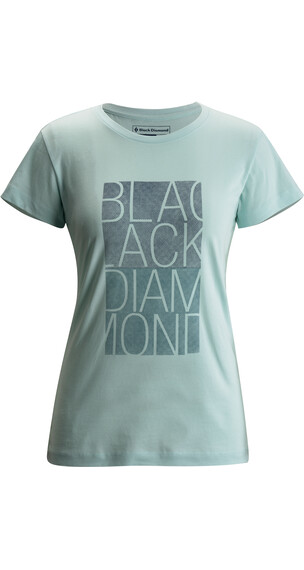 Black Diamond W's BD Block S/S Tee Glacial Blue